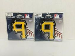 "Pittsburgh Pirates WinCraft 5"" Die-Cut Car Magnet Lot of 2"