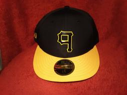 Pittsburgh Pirates 5950 New Era Fitted Hat Black Gold Low Pr