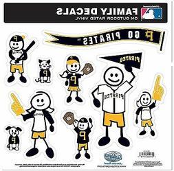 Pittsburgh Pirates 9 Piece Jumbo Family Decals  Auto Car Sti