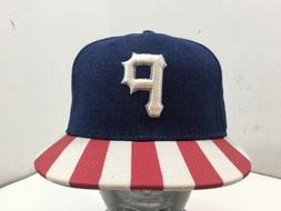 Pittsburgh Pirates New Era 9FIFTY Snapback Denim Flagged Hat