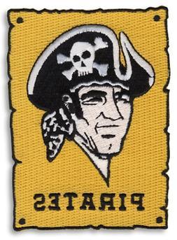 Pittsburgh Pirates Baseball Primary Logo 70's Era Sleeve Emb