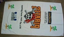 Pittsburgh Pirates Beach Towel and Inflatable Pool Ring Stad