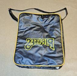 Pittsburgh Pirates Black Messenger Tote Bag w/ Feet- Sponsor
