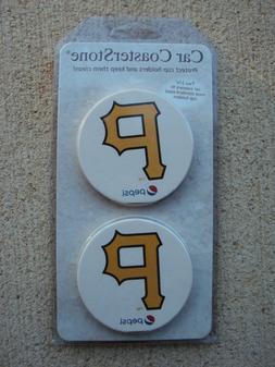 Pittsburgh Pirates Car Coaster Stones Coasters Set of 2 Seal