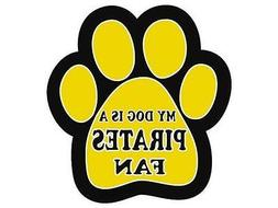 Pittsburgh Pirates Car Magnet My Dog Is A Pirates Fan Paw An