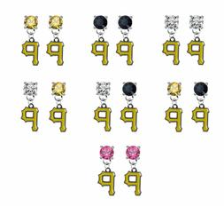 Pittsburgh Pirates Crystal Earrings Stud Post Dangle - Mix &