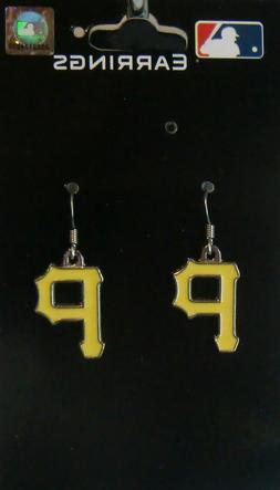 pittsburgh pirates dangle earrings chrome licensed mlb