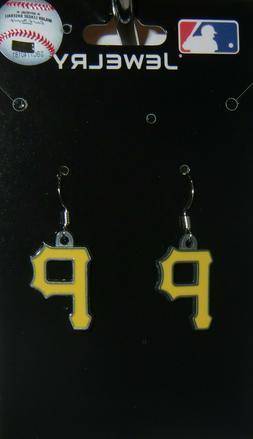 pittsburgh pirates dangle earrings zinc licensed mlb