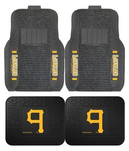 Pittsburgh Pirates Deluxe Auto Floor Mats - Car, Truck, SUV
