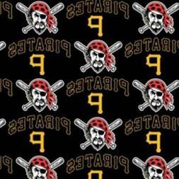Pittsburgh Pirates Fabric by the Yard or Half Yard, MLB Fabr