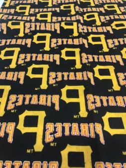 Pittsburgh Pirates Fabric Scrap for Mask Baseball Cotton Old