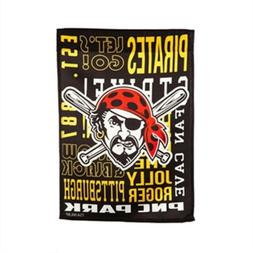 Pittsburgh Pirates Fan Rules Premium 2-Sided Garden Flag Out