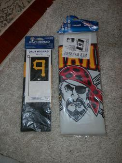 Pittsburgh Pirates flag/banner lot of 2 new vintage flags ga