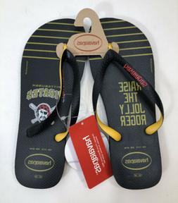 Pittsburgh Pirates ~ Havaianas Flip Flops Sandals ~ Men's Si
