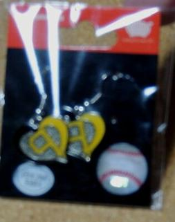PITTSBURGH PIRATES  HEART  EARRINGS!