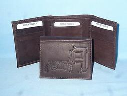PITTSBURGH PIRATES    Leather TriFold Wallet    NEW    dkbr