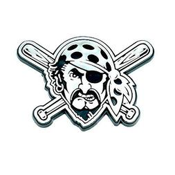 Pittsburgh Pirates LOGO ONLY CE Silver Chrome Color Auto Emb