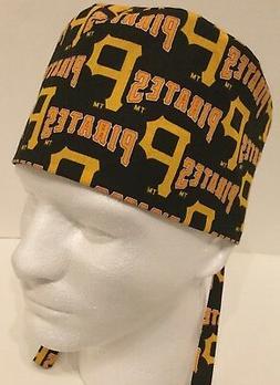 Pittsburgh Pirates Medical Surgery OR Skull Scrub Hat Chemo