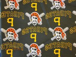 "PITTSBURGH PIRATES  MLB 59"" COTTON FABRIC 1 Yard"