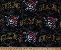 Pittsburgh Pirates MLB Baseball Sports Fleece Fabric Print b