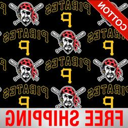 "Pittsburgh Pirates MLB Cotton Fabric - 58"" Wide - Style# 665"
