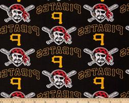 Pittsburgh Pirates MLB Logo Design 58-60 inch 100% Cotton Fa