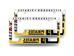Pittsburgh Pirates MLB  Chrome License Plate Frames with Bol