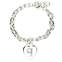 """Pittsburgh Pirates Official MLB 7"""" Heart Charm Bracelet"""