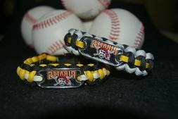 Pittsburgh Pirates Paracord Bracelet w/ MLB Dog Tag and Meta