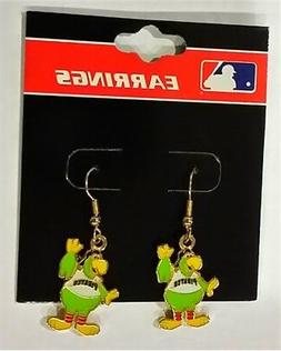 PIttsburgh Pirates Parrot Mascot MLB Charm Gold Dangle Earri