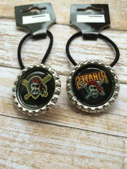 Pittsburgh Pirates Ponytail Holders Hair Ties Pony tail Hold