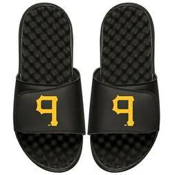 Pittsburgh Pirates ISlide Primary Logo Slide Sandals - Black