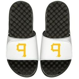 Pittsburgh Pirates ISlide Primary Logo Slide Sandals - White