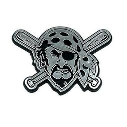 Pittsburgh Pirates Silver Chrome Auto Emblem  MLB Car Truck