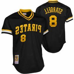 Pittsburgh Pirates Stargell Mitchell & Ness Black Mesh Batti