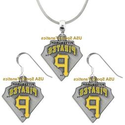 Pittsburgh Pirates Team Diamond Logo Pendant Necklace or Ear
