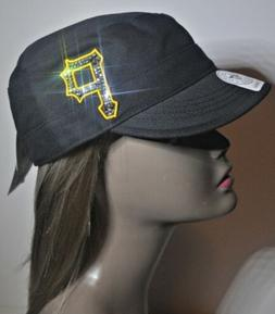 Pittsburgh Pirates Women's Crystal Bling Cadet Military Styl