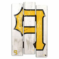 "PITTSBURGH PIRATES WOOD FENCE SIGN 11""X17"" WALL DECOR HEAVY"