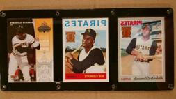 ROBERTO CLEMENTE 3 CARD PLAQUE SCREWDOWN PITTSBURGH PIRATES