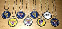 'SET OF 8' PITTSBURGH PIRATES flat Bottlecaps with 8 ball ch
