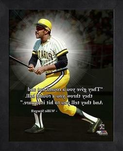 WILLIE STARGELL ~ 8x10 Color Pro Quote Photo Picture ~ Frame