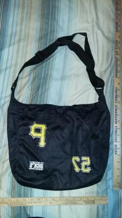 "ZACH DUKE #57 PITTSBURGH PIRATES 16""x13"" Black Tote Bag Purs"